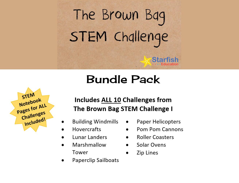 Brown Bag Stem Challenge I Bundle Pack Starfish Education