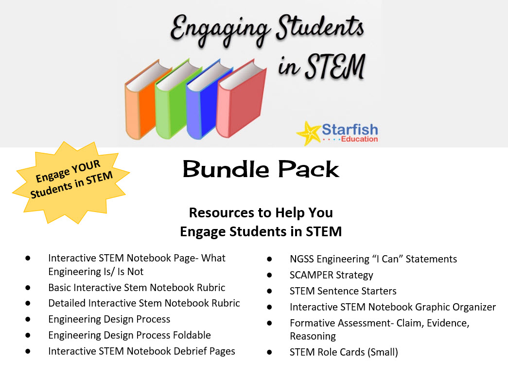 Engaging Students In Stem Bundle Pack Starfish Education