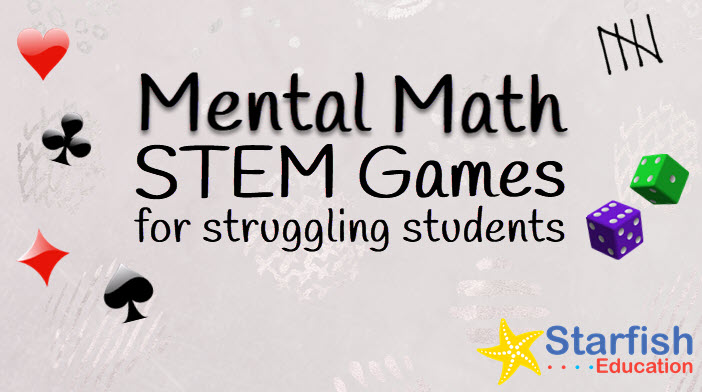 Mental Math STEM Games for Struggling Students- Cards Bundle